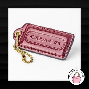 2.25″ Medium COACH BRICK RED PATENT LEATHER KEYFOB